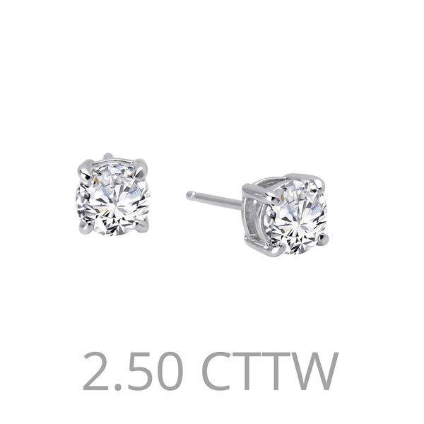 Sterling Silver 2.50ctw Simulated Diamond Studs Kiefer Jewelers Lutz, FL