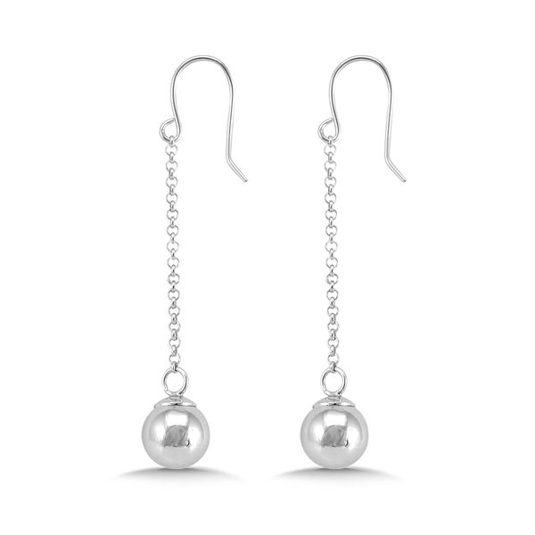 Sterling Silver Ball Dangle Earrings Kiefer Jewelers Lutz, FL