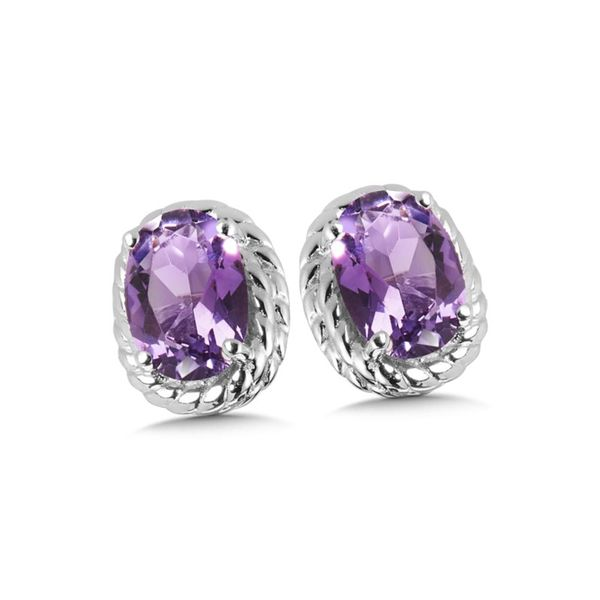 Sterling Silver Amethyst Stud Earrings Kiefer Jewelers Lutz, FL