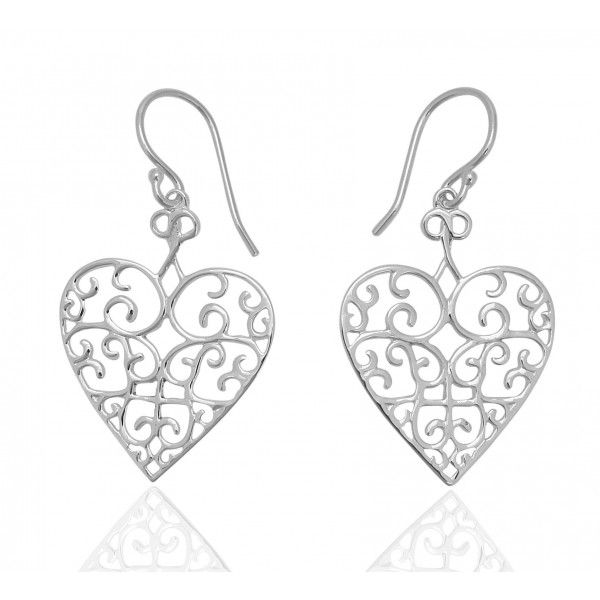 Sterling Silver Flat Heart Earrings Kiefer Jewelers Lutz, FL