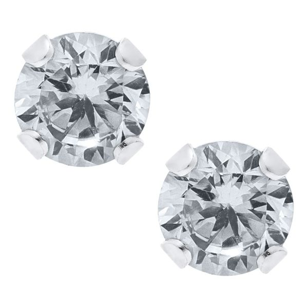 Sterling Silver CZ Stud Earrings for Children Kiefer Jewelers Lutz, FL