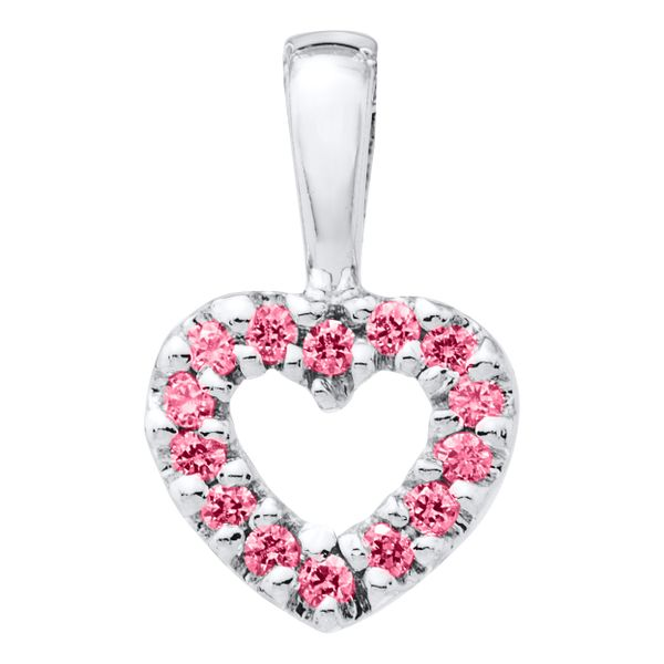 Sterling Silver Pink CZ Necklace for Children Kiefer Jewelers Lutz, FL