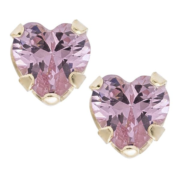 14K Pink Heart Earrings Kiefer Jewelers Lutz, FL