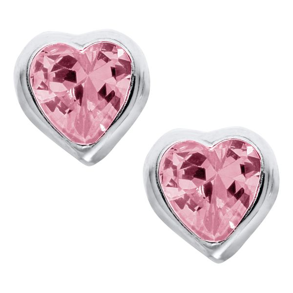 Sterling Pink Heart Earrings Kiefer Jewelers Lutz, FL