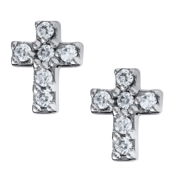Children's CZ Cross Earrings Kiefer Jewelers Lutz, FL