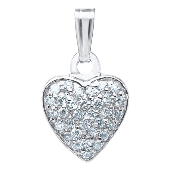 Sterling CZ Heart Necklace Image 2 Kiefer Jewelers Lutz, FL