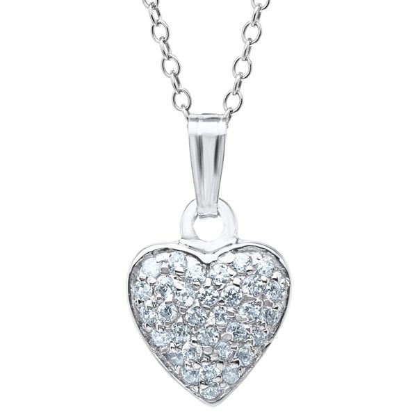 Sterling CZ Heart Necklace Kiefer Jewelers Lutz, FL