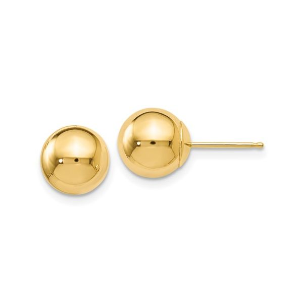14K 8mm Ball Studs Kiefer Jewelers Lutz, FL