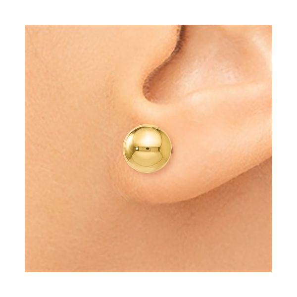14K 7mm Ball Studs Image 3 Kiefer Jewelers Lutz, FL
