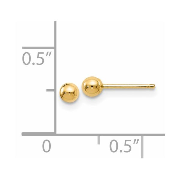 14K 3mm Ball Studs Image 2 Kiefer Jewelers Lutz, FL