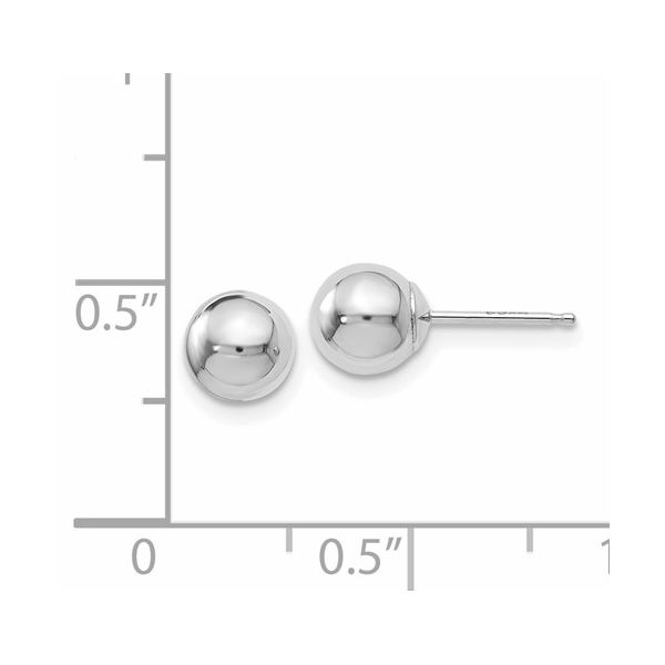 14K 6mm Ball Studs Image 2 Kiefer Jewelers Lutz, FL