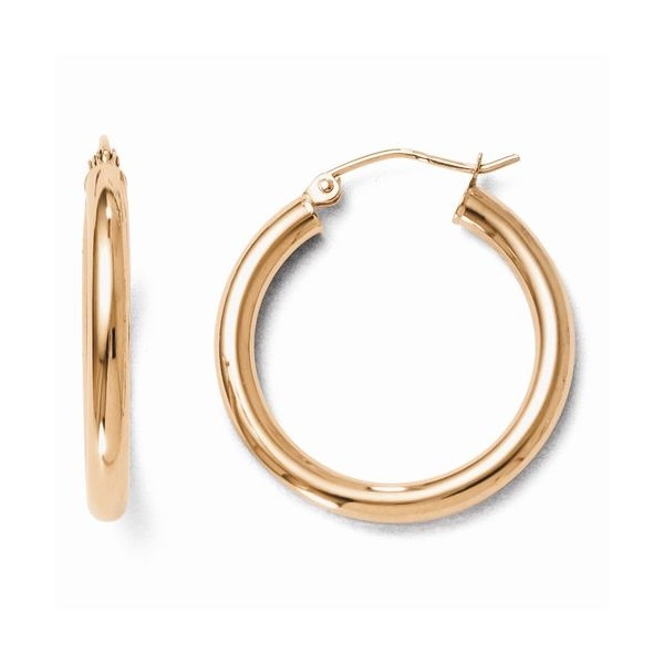 14K Rose Gold Hoops Kiefer Jewelers Lutz, FL