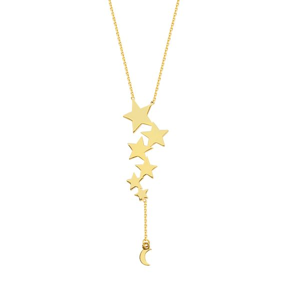Celestial Falling Stars & Moon Necklace Kiefer Jewelers Lutz, FL
