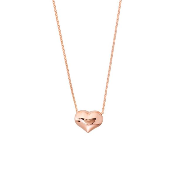 Rose Gold Puffed Heart Image 2 Kiefer Jewelers Lutz, FL