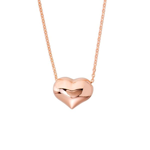Rose Gold Puffed Heart Kiefer Jewelers Lutz, FL