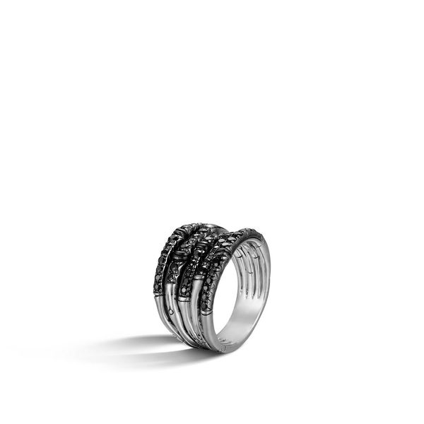 John Hardy Bamboo Ring with Black Sapphire Kiefer Jewelers Lutz, FL