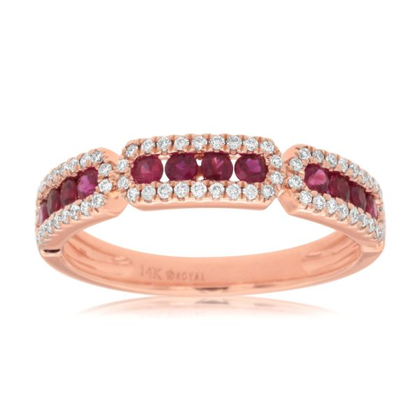 14K Ruby & Diamond Band Kiefer Jewelers Lutz, FL