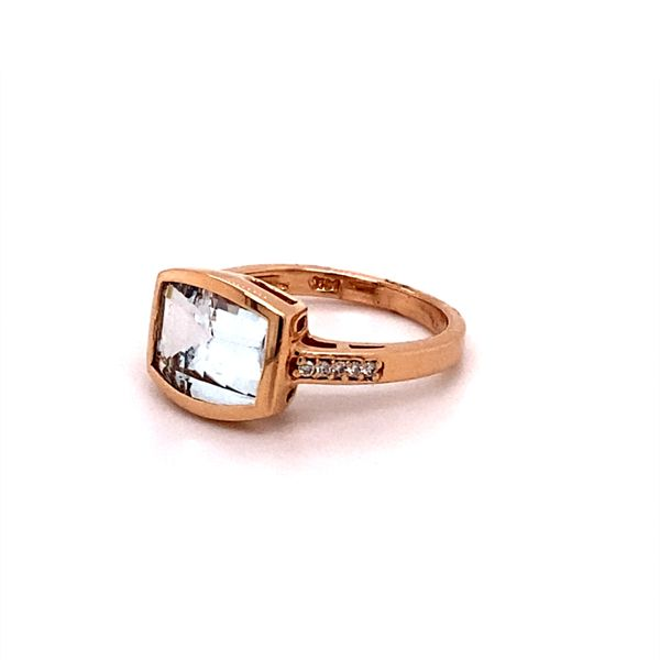 Rose Gold Aqua Ring Image 2 Kiefer Jewelers Lutz, FL