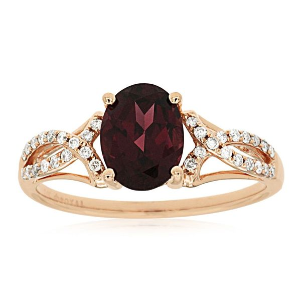 Garnet & Diamond Ring Kiefer Jewelers Lutz, FL