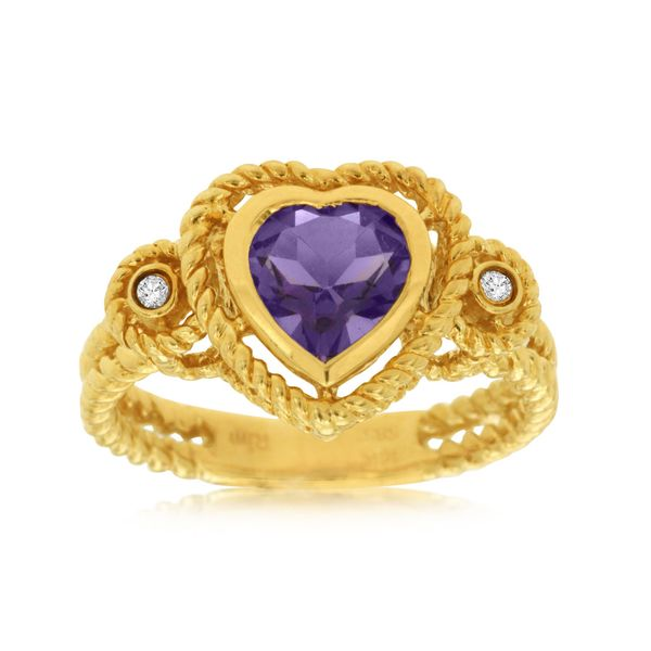 Heart Shape Amethyst & Diamond Ring Kiefer Jewelers Lutz, FL