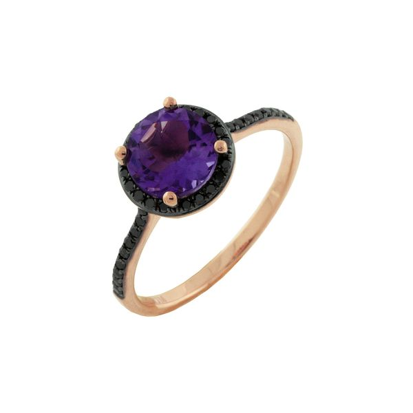 Amethyst & Black Diamond Ring Kiefer Jewelers Lutz, FL