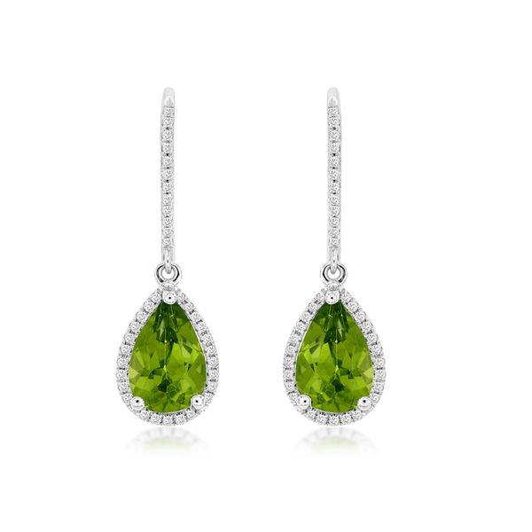 Peridot & Diamond Earrings Kiefer Jewelers Lutz, FL
