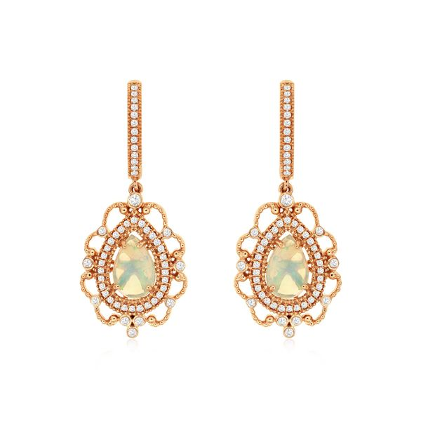 Opal & Diamond Earrings Kiefer Jewelers Lutz, FL