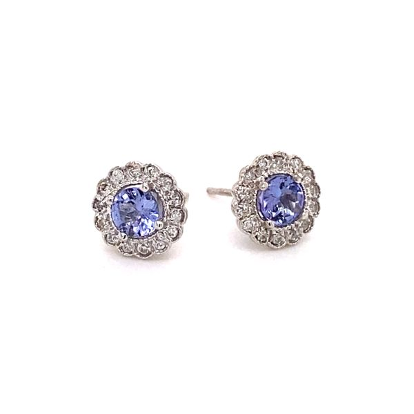 Tanzanite & Diamond Earrings Kiefer Jewelers Lutz, FL