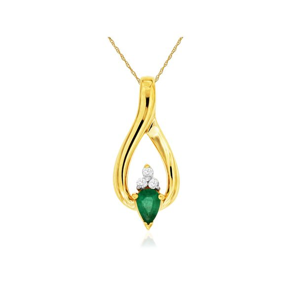 14K Emerald & Diamond Necklace Kiefer Jewelers Lutz, FL
