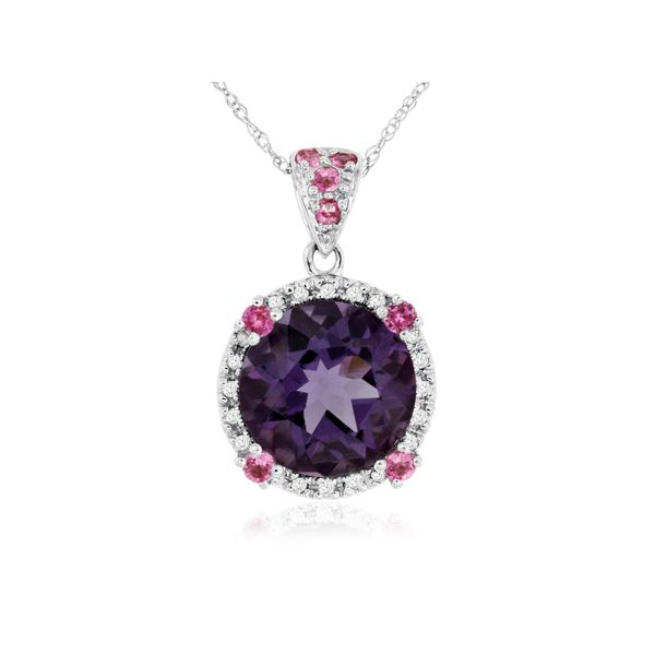 Amethyst, Pink Saph & Diamond Necklace Kiefer Jewelers Lutz, FL