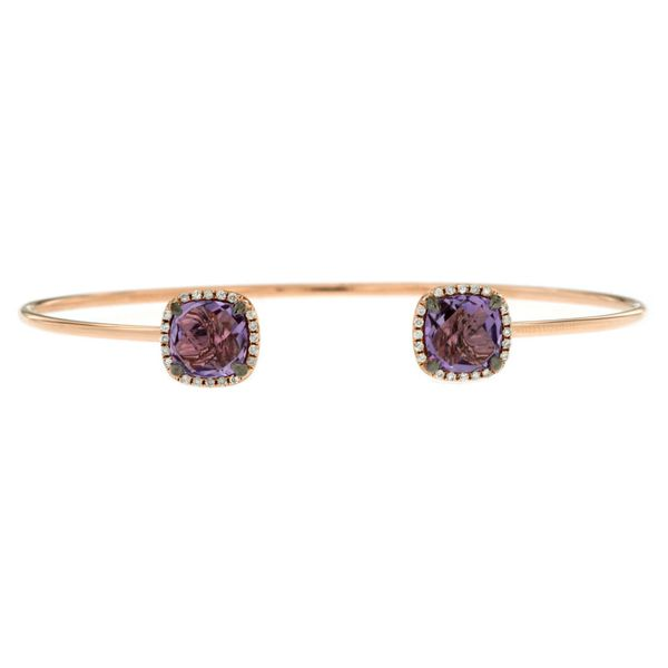 14K Amethyst & Diamond Bangle Kiefer Jewelers Lutz, FL