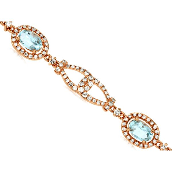 14K Aquamarine & Diamond Bracelet Kiefer Jewelers Lutz, FL