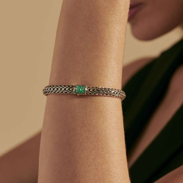 Reversible Emerald & Black Sapphire Bracelet Image 3 Kiefer Jewelers Lutz, FL