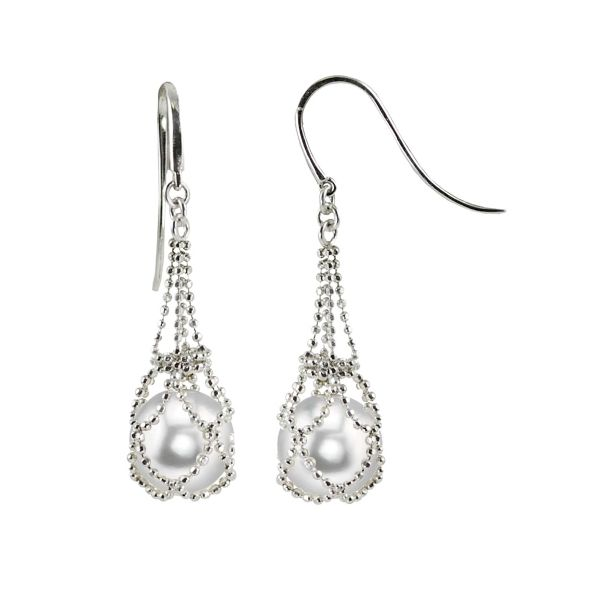 Sterling Silver Pearl Drop Earrings Kiefer Jewelers Lutz, FL