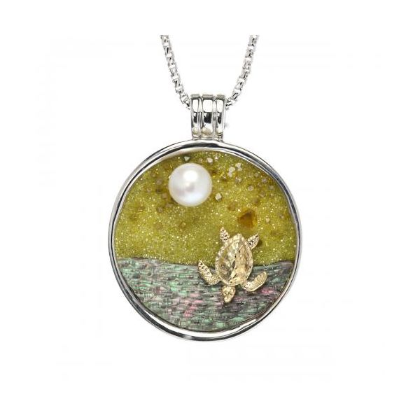 Galatea Baby Turtle Hatchling Necklace Kiefer Jewelers Lutz, FL