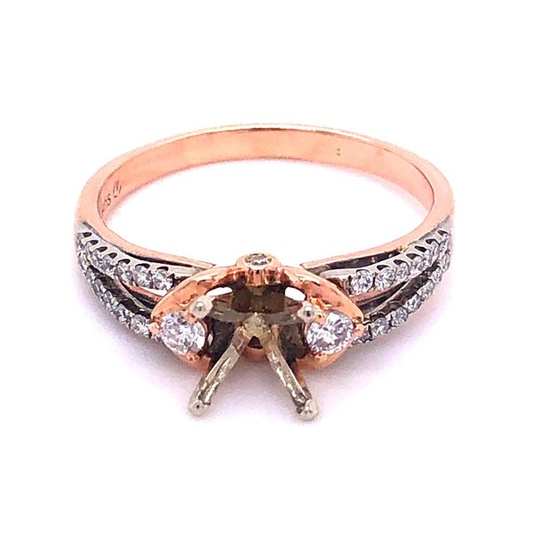 Estate 14K 1/2 ctw Diamond Engagement Ring Mounting Kiefer Jewelers Lutz, FL
