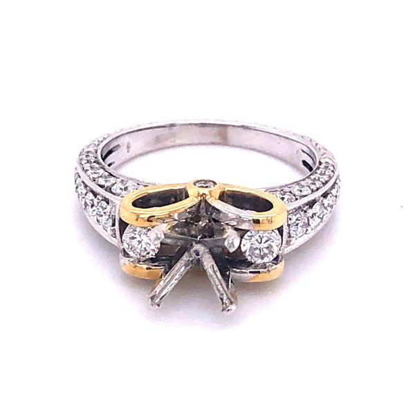 18K Diamond Engagement Ring Mounting Kiefer Jewelers Lutz, FL
