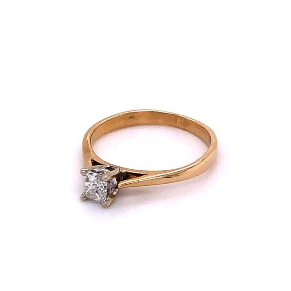 10K Princess Cut Solitaire Ring Image 2 Kiefer Jewelers Lutz, FL