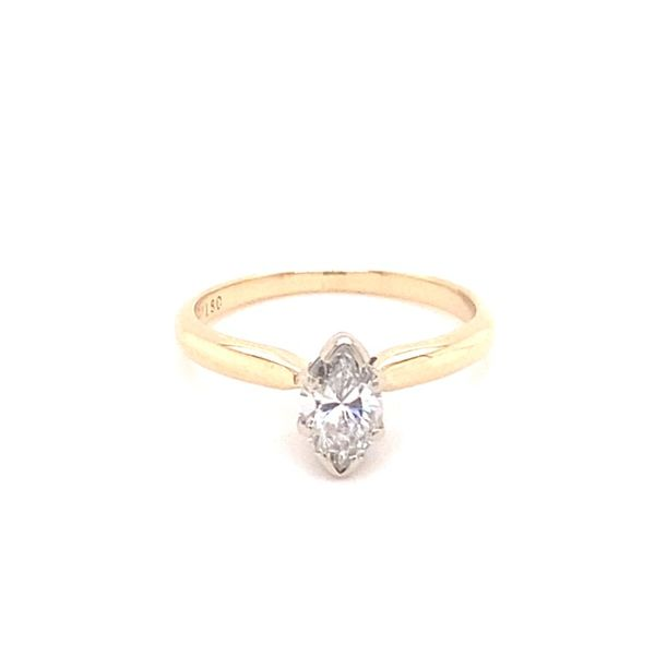 Estate 14K .47 Carat Marquise Solitaire Ring Kiefer Jewelers Lutz, FL