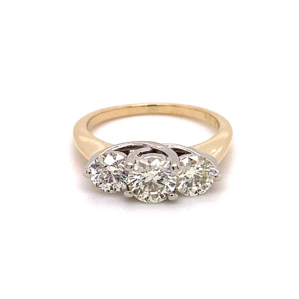 Estate 3 Stone Diamond Ring Kiefer Jewelers Lutz, FL