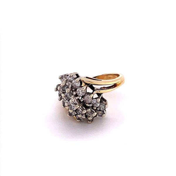 Estate 14K Diamond Waterfall Ring Image 2 Kiefer Jewelers Lutz, FL