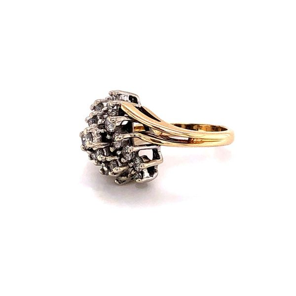 Estate 14K Diamond Waterfall Ring Image 4 Kiefer Jewelers Lutz, FL