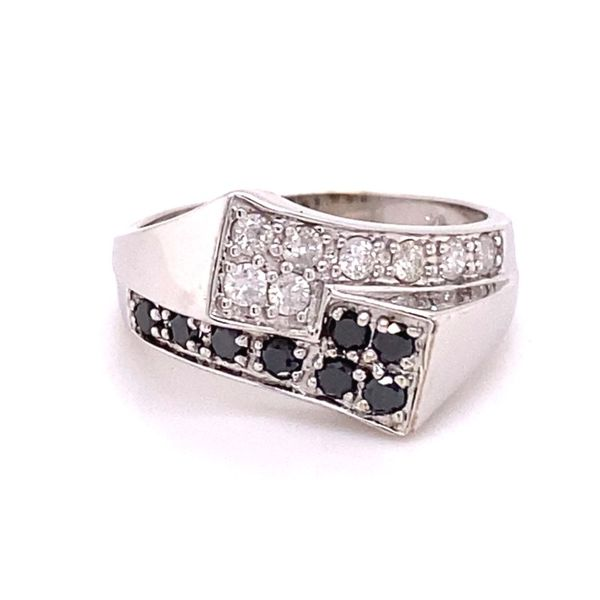 Estate Black & White Diamond Ring Kiefer Jewelers Lutz, FL