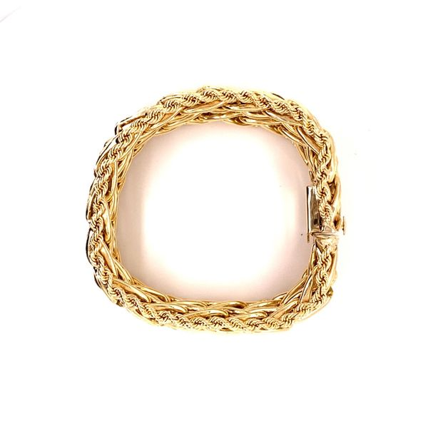 Estate Fancy Gold Bracelet Image 3 Kiefer Jewelers Lutz, FL