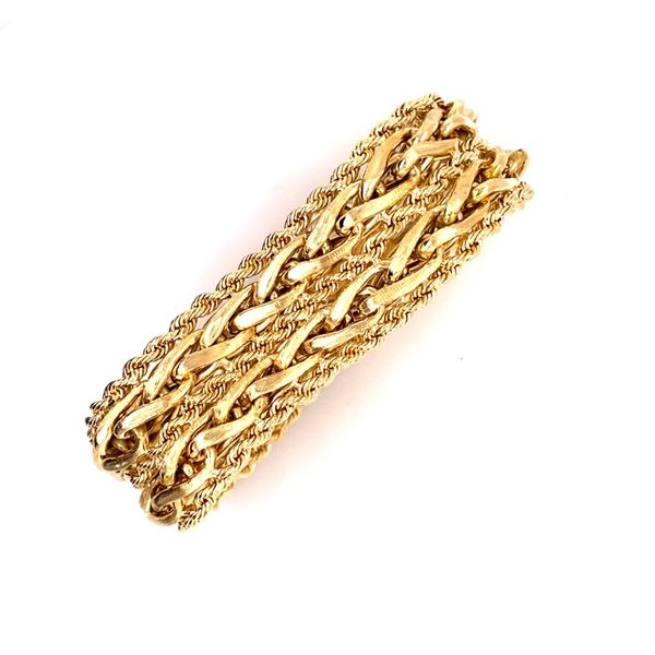 Estate Fancy Gold Bracelet Kiefer Jewelers Lutz, FL