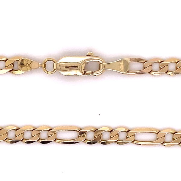 Estate 14K Figaro Chain Image 3 Kiefer Jewelers Lutz, FL