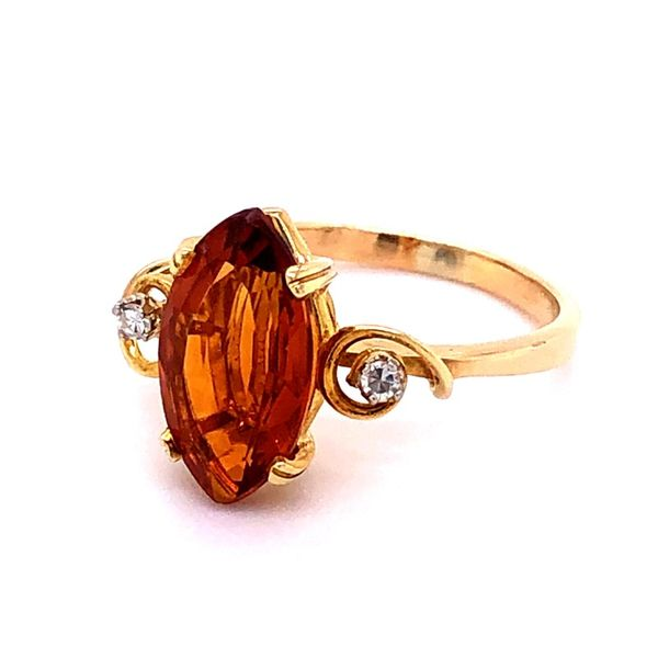 Estate 18K Madeira Citrine Ring Image 2 Kiefer Jewelers Lutz, FL