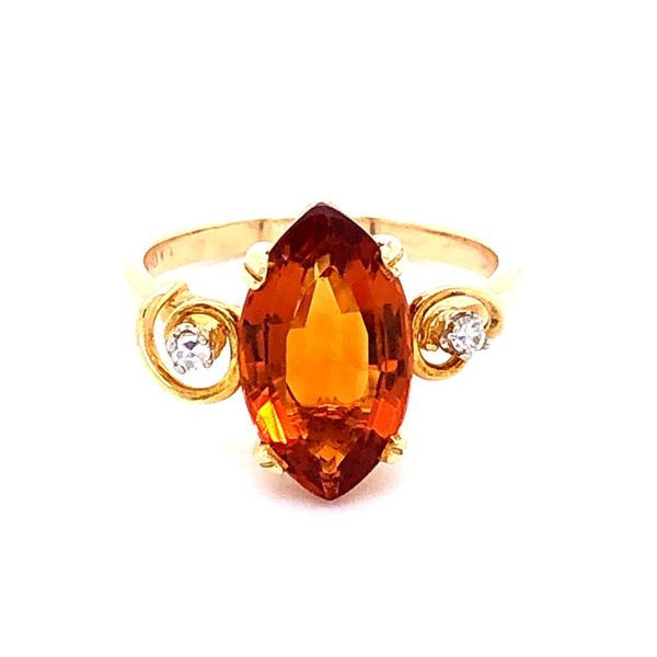 Estate 18K Madeira Citrine Ring Kiefer Jewelers Lutz, FL