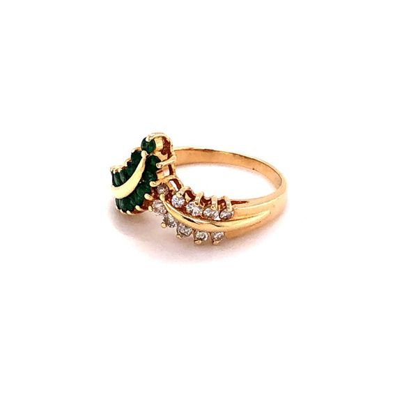 Estate 14K Emerald & Diamond Ring Image 2 Kiefer Jewelers Lutz, FL