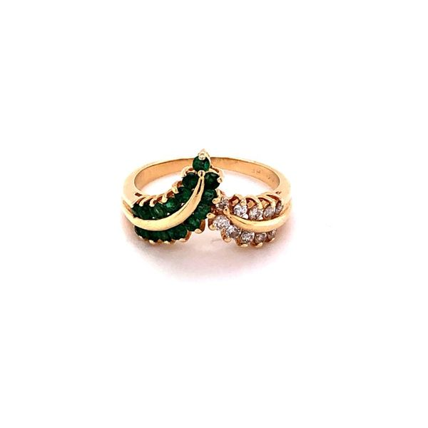Estate 14K Emerald & Diamond Ring Kiefer Jewelers Lutz, FL